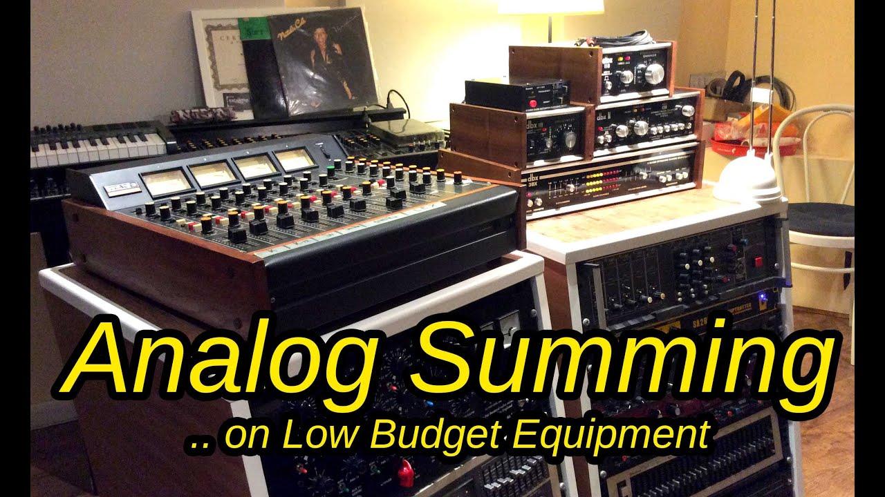 Analog Summing Mixer : itb vs analog summing with antelope orion teac 3 and vintage dbx gear youtube ~ Vivirlamusica.com Haus und Dekorationen