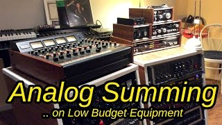 ITB VS Analog Summing With Antelope Orion TEAC 3 and vintage DBX gear