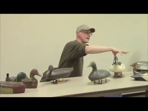 Doug Lodermeier and Phil Nelson show antique Minnesota made decoys   February 2016