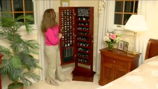Gold silver safekeeper oval spinning jewelry cabinet by lori greiner
