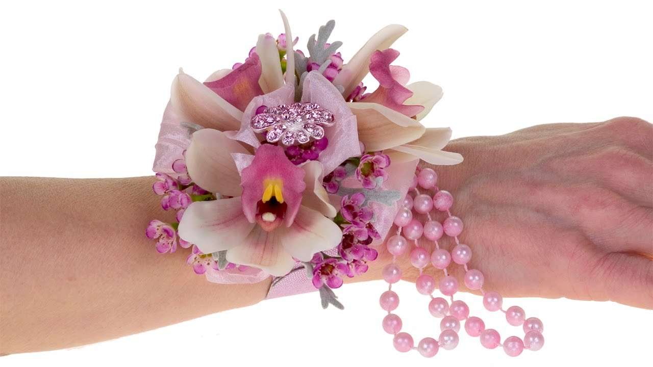 Orchid Blush Wrist Corsage - YouTube