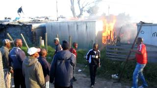 Cape Town Township Fire in Khayelitsha