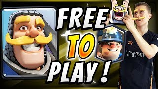 F2P TROPHY PUSHING w/ MINER POISON CONTROL! — Clash Royale
