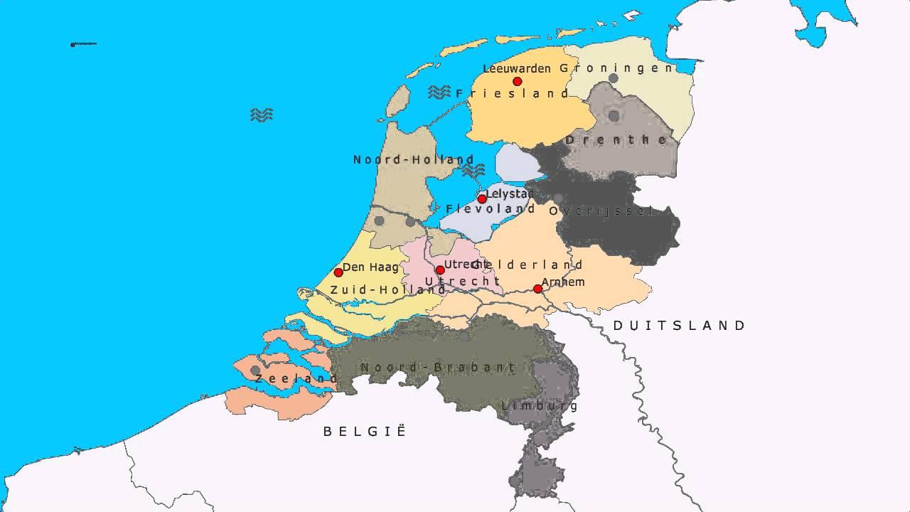 Topografie Provincies Hoofdsteden En Wateren Van Nederland Youtube