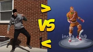 *NEW* Fortnite Season 4 DANCES IN REAL LIFE LEAKED! (Boogie Down, Rambunctious, Baller, Laugh It Up)
