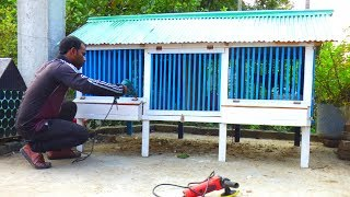 How to Build a Wooden Chicken Coop   Rooftop Chicken Cage Setup