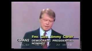 1976 Jimmy Carter and Gerald Ford Presidential Debate #3 Oct 22