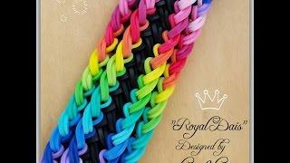 """New """"Royal Dais"""" Rainbow Loom Bracelet/ How To"""
