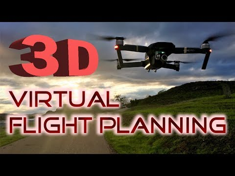 3D Virtual Flight Planning - Using Virtual Litchi Mission - DJI Mavic Pro Air / Phantom 3 And 4