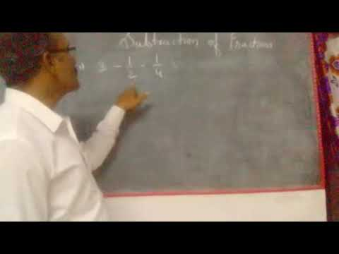 Subtraction of fraction part 3