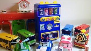 Robocar Poli Dispenser Toys  Tayo 폴리 타요 자판기 장난감 놀이  Робокар Поли мультфильмы [라임튜브]