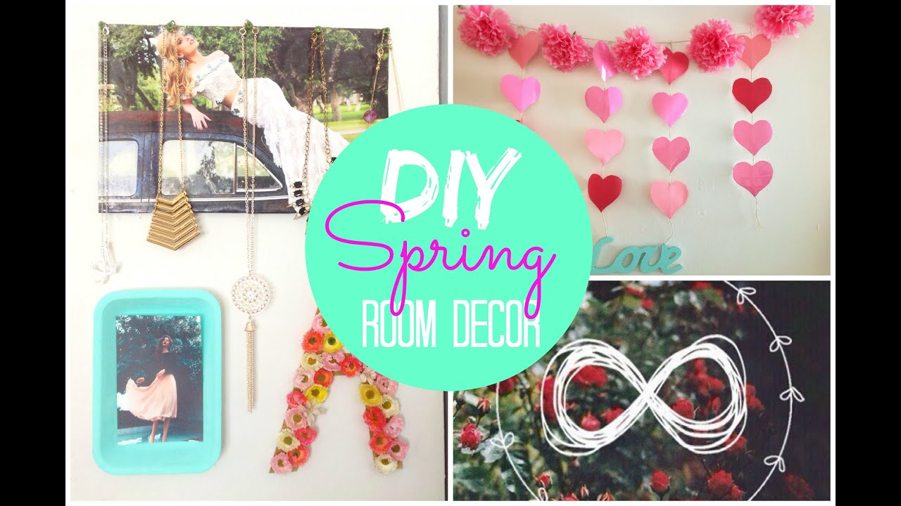 Diy Spring Room Decor Tumblr Pinterest Inspired Spirited Gal Youtube