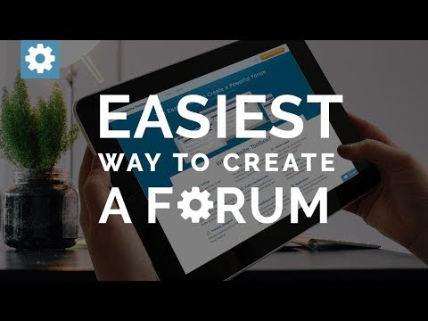 The Easiest Way To Create A Forum