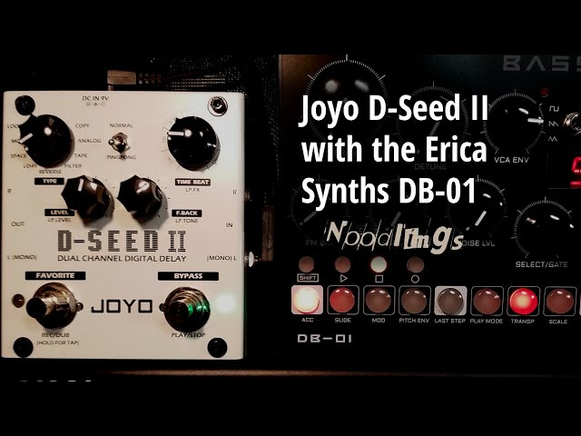 Joyo D-Seed II with the DB-01 synth (a little talking)