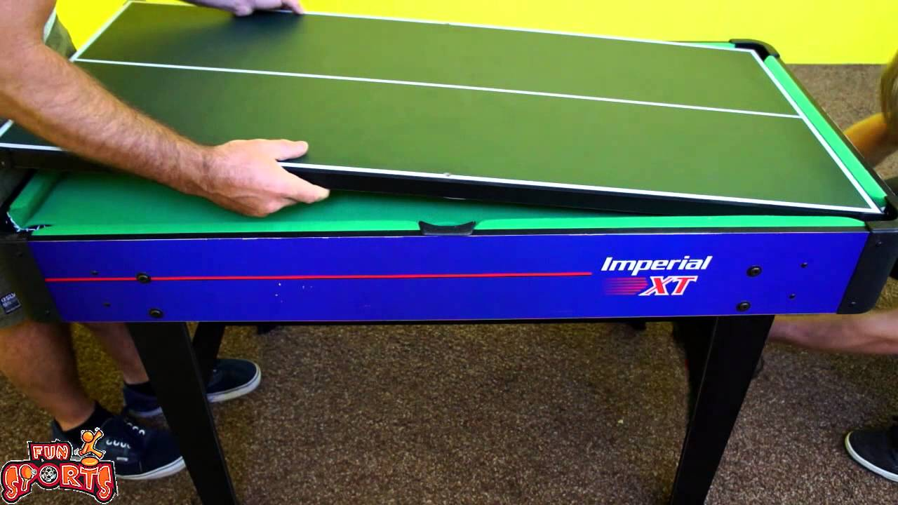 Funsports Imperial 7 In 1 Multigame Table Demo   YouTube