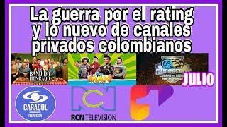 Rating Colombia: Caracol Televisión compitiendo con RCN, por el primer lugar