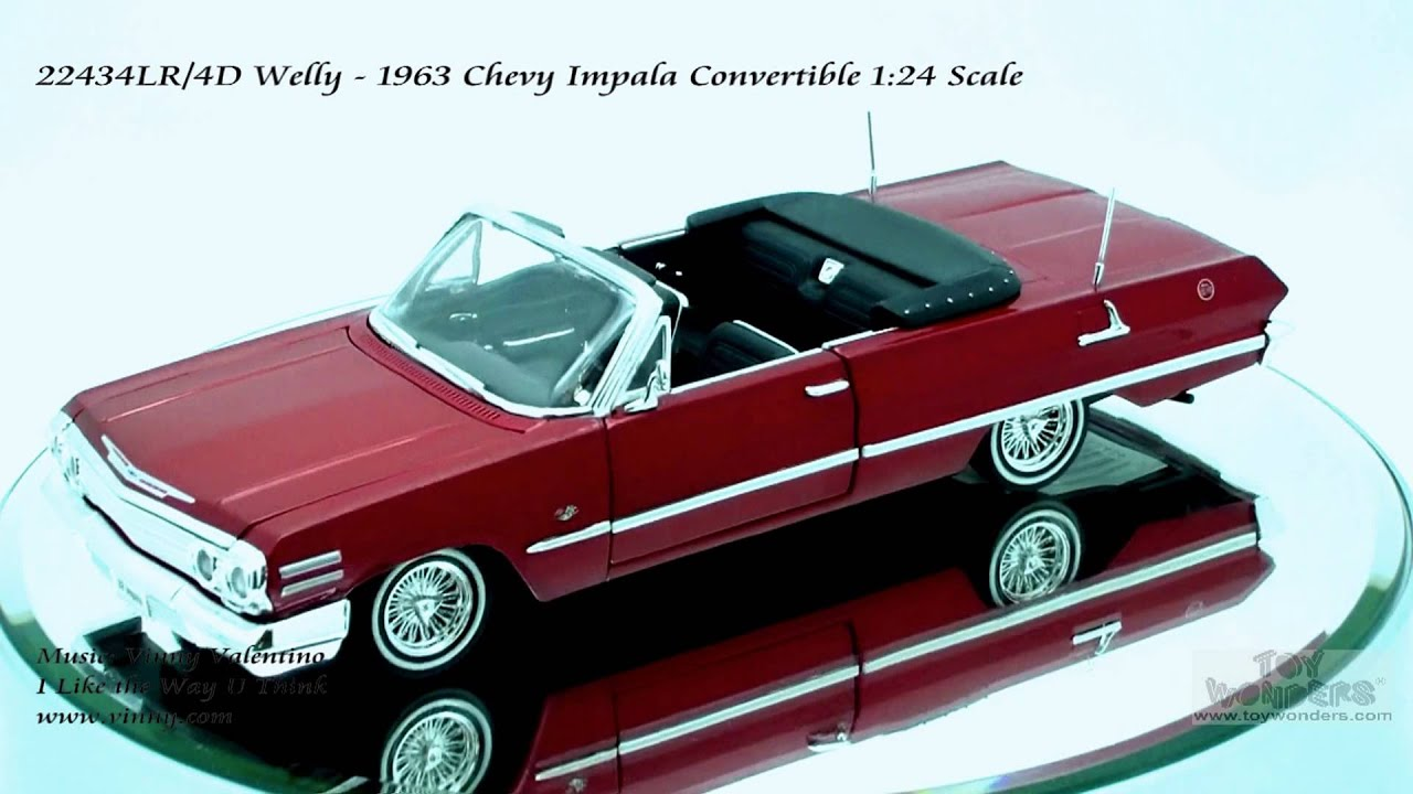 22434LR Welly 1963 Chevy Impala Convertible 124 Scale ...
