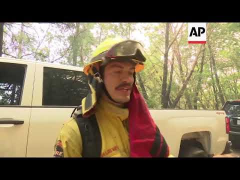 Crews fight blaze as flames tear through Napa