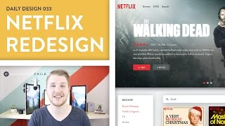 Video Daily Design 033 - Netflix Dashboard Redesign (Speed Art) download MP3, 3GP, MP4, WEBM, AVI, FLV Desember 2017