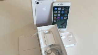 iPhone 7 Unboxing silver 128gb