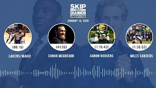Lakers/Magic, Conor McGregor, Aaron Rodgers, Miles Sanders (1.16.20) | UNDISPUTED Audio Podcast