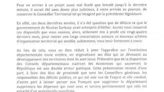 Pierre Bédier tacle sévèrement la réforme territoriale