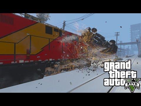 GTA 5: SP Series #9 - AWVR Runaway Train Through San Andreas (Unstoppable)
