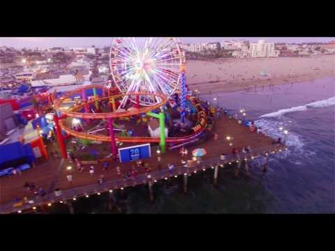 Santa Monica Pier in 4k - P3 Pro Drone