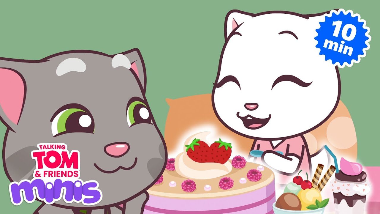 🧁 The Yummy Episodes! 😋 Talking Tom & Friends Minis Compilation