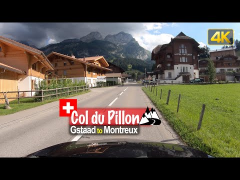 Driving from Gstaad to Montreux via the Col du Pillon mountain pass - Scenic Drive Switzerland!
