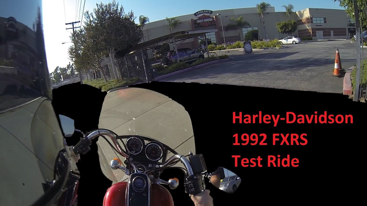 1992 FXR Harley-Davidson Test Ride and History - YouTube