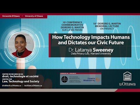 Latanya Sweeney: How technology impacts humans and dictates our civic future | 22.02.2017