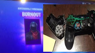 DAD BREAKS TV AND CONTROLLER AFTER SON ACCIDENTALLY BUYING BURNOUT SKIN IN FORTNITE!!