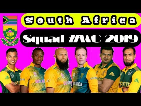 South Africa squad 2019 world cup South African cricket board announce squad world cup 2019