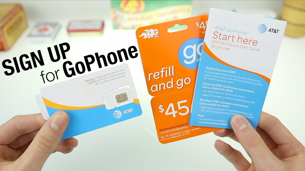 how to sign up for atts gophone service youtube
