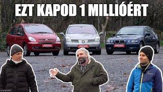 1 millióért már van jó autó, ugye? UGYE? - BMW 316ti - Renault Velsatis - Citroen Xsara Picasso