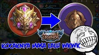 KOCAK KETIKA PLAYER MYTHICAL GLORY BERMAIN DI WARRIOR, SURAMNYA MASA LALU - MOBILE LEGEND INDONESIA