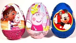 Surprise Eggs Mickey Mouse Peppa pig Huevo Kinder Sorpresa easter egg by Unboxingsurpriseegg