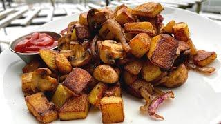Жареная картошка интересным методом Как правильно жарить картошку Вкусный рецепт картошки Иван Кас