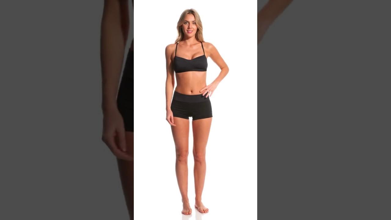 19afd92460e Nike Women's Iconic Heather Kick Swim Short   SwimOutlet.com - YouTube