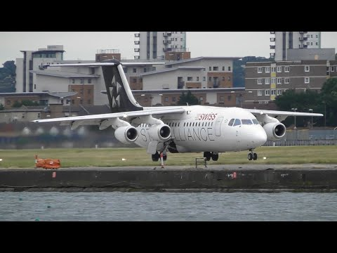 1 HOUR of Planes at London City Airport, LCY