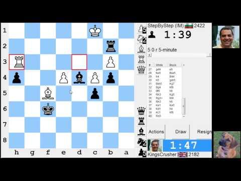 LIVE Blitz #2314 (Speed) Chess Game: Black vs IM in King's Indian: Sämisch, 5...O-O