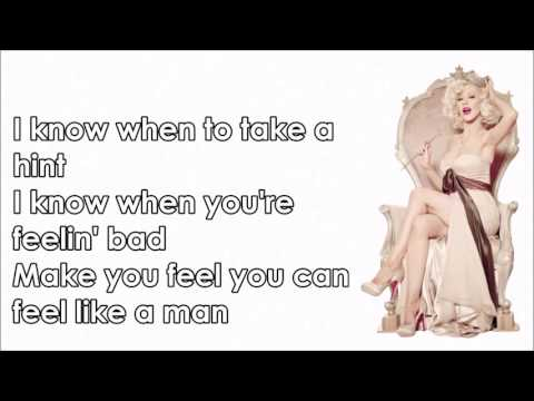 Christina Aguilera - Telepathy (Lyrics )