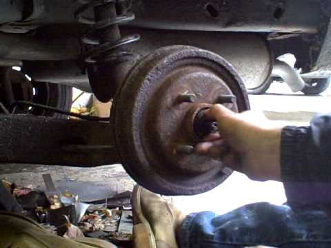 Rear Wheel Bearing Removal To Free Drum Youtube