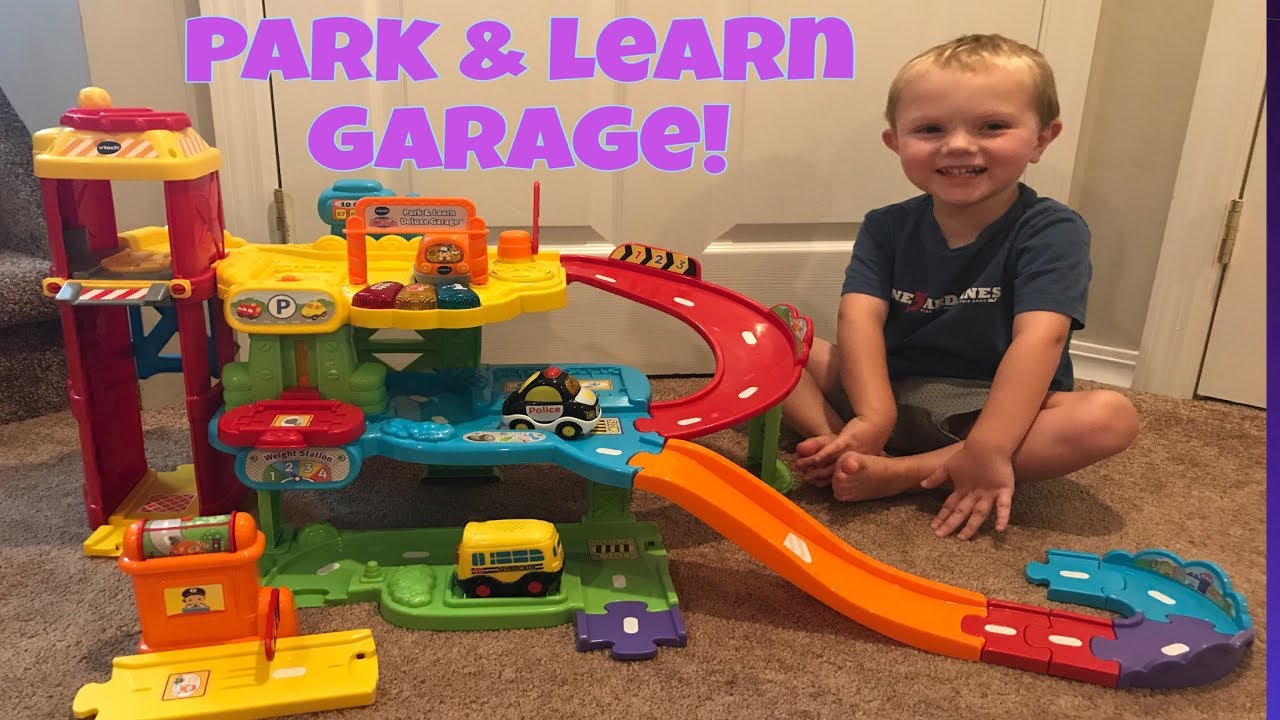 V Tech Garage : Toddler plays with vtech go go smart wheels park learn deluxe