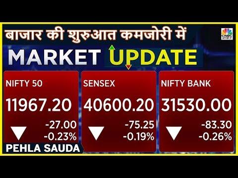 Sensex और Nifty की शुरुआत कमजोरी में | Pehla Sauda | CNBC Awaaz