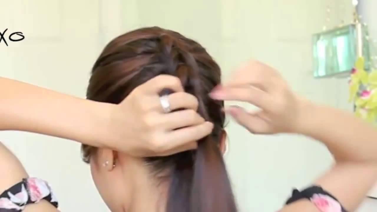 Cách tết tóc đuôi cá từ trên đỉnh đầu dể nhất nhất nhất