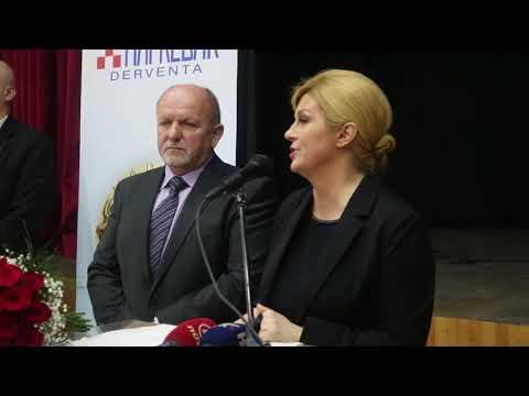 Derventa -Kolinda Grabar-Kitarović, cijeli govor 18.01.2018.