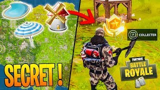 """SECRET"" Search between a BASSIN, a MOULIN and a PARASOL on Fortnite Battle Royale!"
