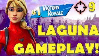 LAGUNA STARTER PACK SKIN GAMEPLAY | 9 Töten Sieg Royale | Fortnite Battle Royale